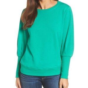 NWT Halogen Blouson Sleeve Sweatshirt